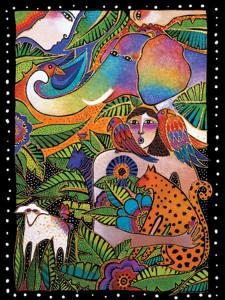 """Laurel Burch Card Birthday """"Rainbow Forest"""" - BDG13240"""