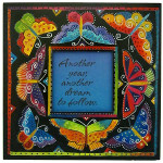 "Laurel Burch Card Birthday - ""Butterflies"" Square - BDQ23403"