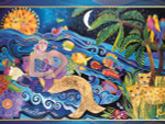 Laurel Burch Card  Birthday - Mermaid Mural - BDG44843