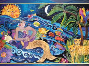 Laurel Burch Card  Birthday - Mermaid Mural - BDG44843