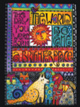 "Laurel Burch Card  Birthday - ""A Brighter Place"" Cats & Dogs - BDG44845"