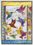 "Laurel Burch Card  Birthday - ""Rainbow Hummingbirds""  - BDG44846"