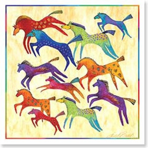 "l Burch Card Birthday - ""Wild Horses"" Square - BDQ23409"