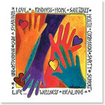 "Laurel Burch Blank Note Card ""Love, Kindness..."" - BKQ23417"