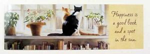 """Cat Theme Bookmarker """"Happiness is.."""""""