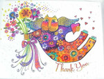Laurel Burch Cat Thank You Note Cards Valentina 8 in a Package - BTN35879
