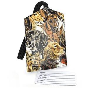 Dog Fabric Luggage Tag - 2040