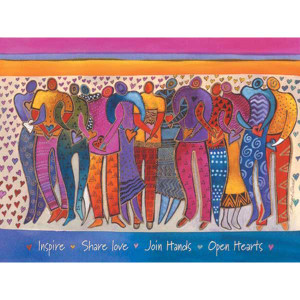 "Laurel Burch Card Encouragement ""Heart of Human Being"" - ECG15652"