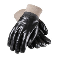ProCoat® PVC Dipped Glove with Interlock Liner and Smooth Finish - Knitwrist - Large (Per DZ)