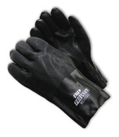 "ProCoat® PVC Dipped Glove with Jersey Liner and Rough Acid Finish - 12"" - Large (Per DZ)"