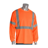 ANSI Class 3 Hi Viz Long Sleeve T-Shirt - Orange