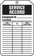 Equipment Status Service Record Tags - Cardstock (Per PK)