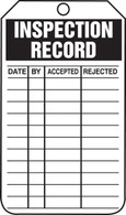 Inspection Record & Status Tags - Accept/Reject (Per PK)