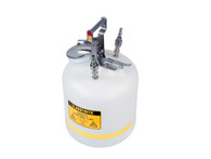 """Quick-Disconnect Disposal Safety Can, Stainless Steel Fittings for 3/8"""" Tubing, 5 Gal., Polyethylene"""