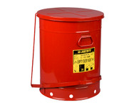 Oily Waste Can, 21 Gallon, Foot-Operated Self-Closing Cover