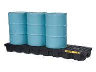 EcoPolyBlend™ Spill Control Pallet, 4 Drum In-line (Black)