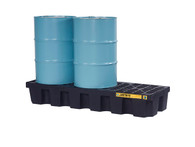 EcoPolyBlend™ Spill Control Pallet, 3 Drum (Black)