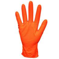 Nitri-Cor Z-Tread, 6 mil Nitrile Glove, Orange (Per BX)