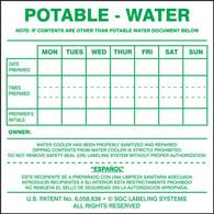 Potable Water Cooler Label (Per PK)