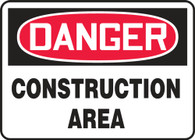 "Danger Construction Area Sign 10""x14"""