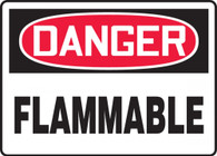 "Danger Flammable Sign 10""x14"""