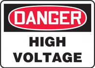 "Danger High Voltage Sign 10""x14"""