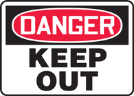"Danger Keep Out Sign 10""x14"""