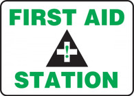 """First Aid Station Sign 10""""x14"""""""