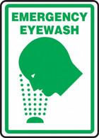 "Emergency Eyewash Sign (Graphic) 10""x14"""