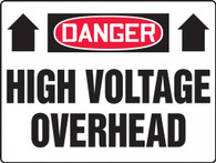 "Danger High Voltage Overhead Sign 18""x24"""