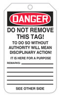 Danger Blank Tags (100/RL)