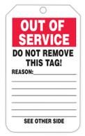 Out Of Service Tags (100/RL)