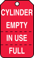 Cylinder Empty, In Use, Full Tags (25/PK)
