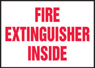 Fire Extinguisher Inside Label (5/PK)