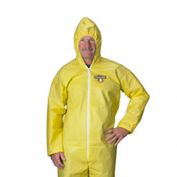 ChemMAX™1 Coveralls - Zipper closure, attached hood, elastic wrists & ankles (Per CS)