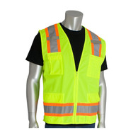 ANSI Class 2 Two-Tone Six Pocket Surveyors Vest