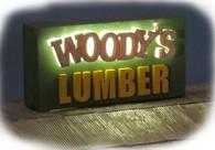 Woody's Lumber Yard - Sign