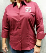 Women's twill button-down shirt
