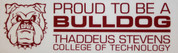 Proud Bulldog Window Cling