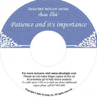 Patience And It's Importance CD