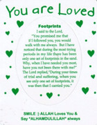 You Are Loved Magnet....Footprints