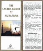 The Sacred Month Of Muharram Informative Pamphlet