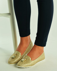 Champagne Glitter Loafers