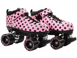 **CLOSEOUT** Riedell Polka Dart Roller Skates
