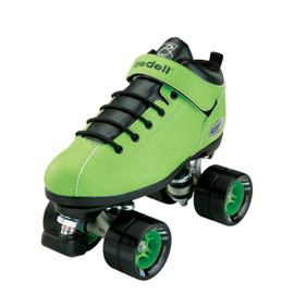 **CLOSEOUT** Riedell Dart Green Quad Speed Roller Skates