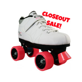 **Closeout** White GTX-500 Quad Roller Skates