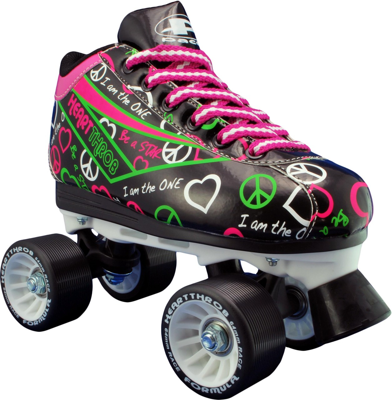 Black Pacer Heart Throb Speed Skates