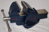 "Paramo # 6 Bench Vise with 6"" New Jaws"