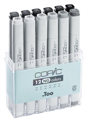 COPIC MARKER - 12 PEN - NEUTRAL GREY SET
