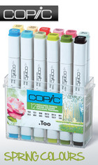 COPIC .TOO PRO MARKER - 12 PEN - SPRING COLOURS SET